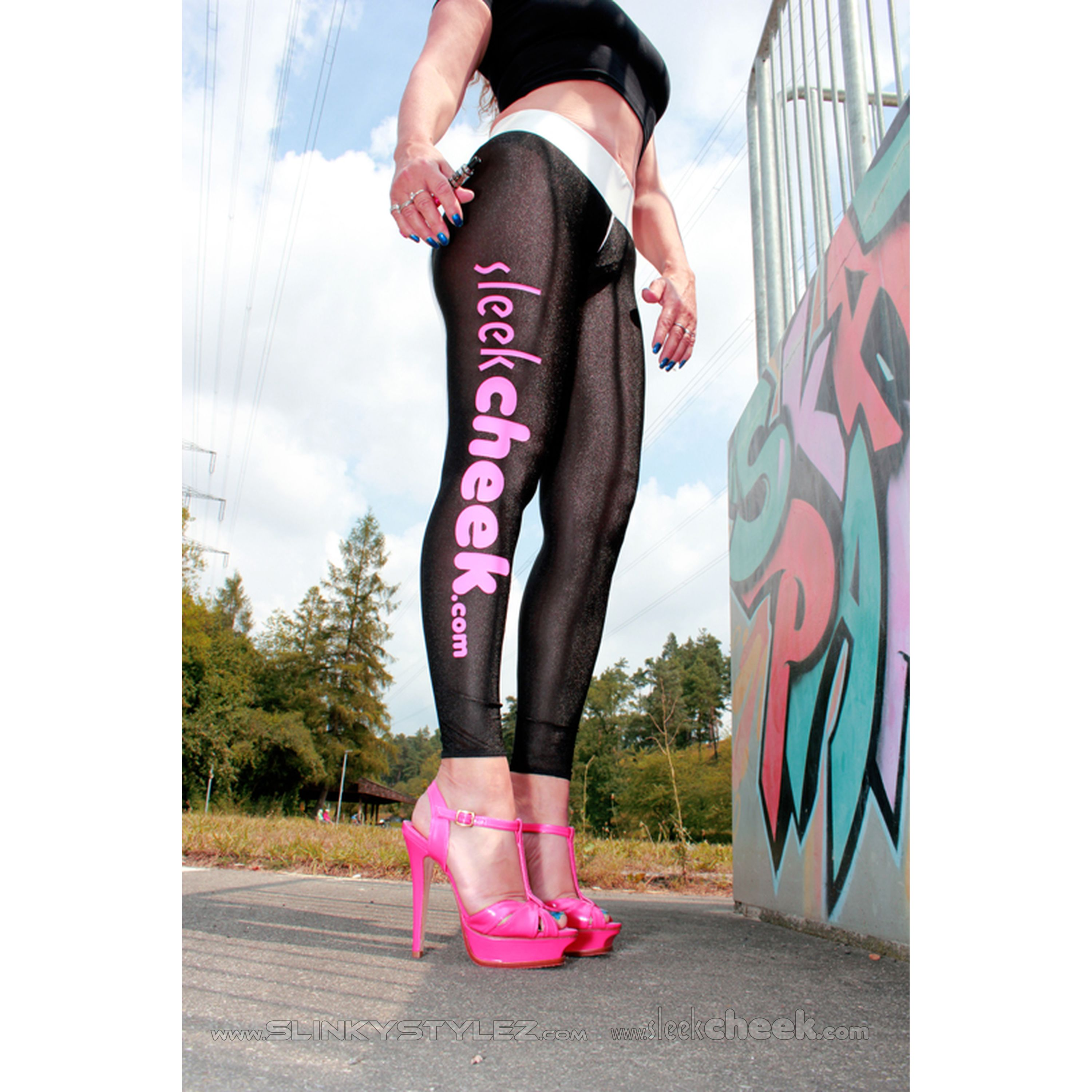 SLEEKCHEEK Booty PussyShow Leggings HL5AYR - SheerSpandex 91 - CUSTOM (L57D)